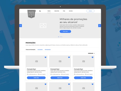 Promotion Site Wireframe
