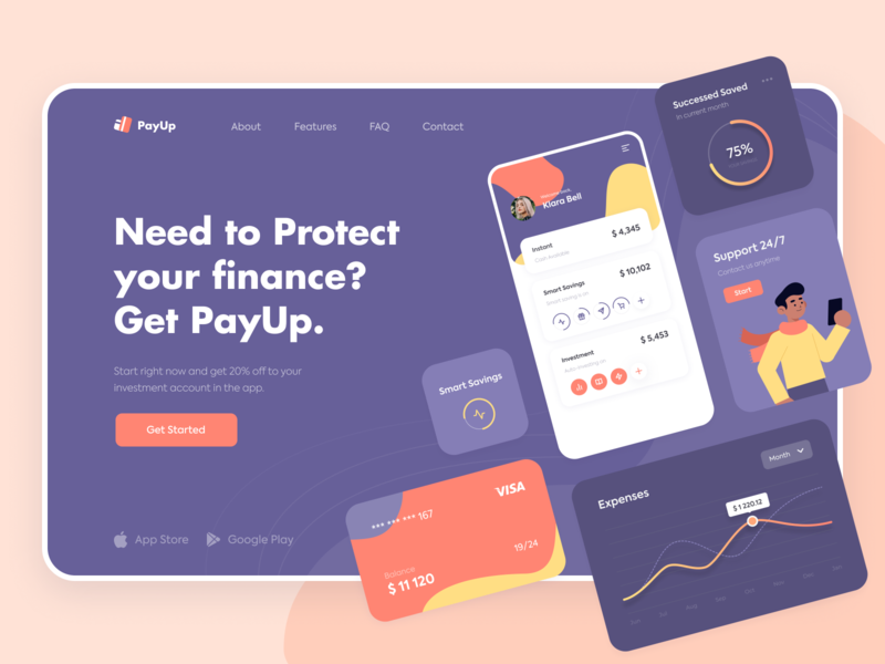 PayUp - Home page concept