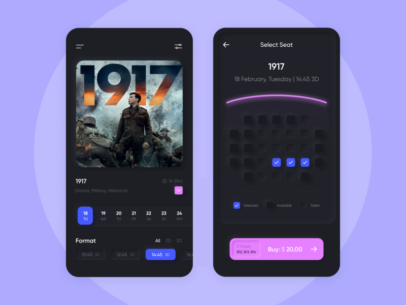 Cinema - Mobile App Concept