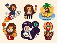 Lion mascot stickers