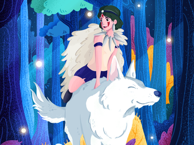 Princess Mononoke Designs Themes Templates And Downloadable Graphic Elements On Dribbble