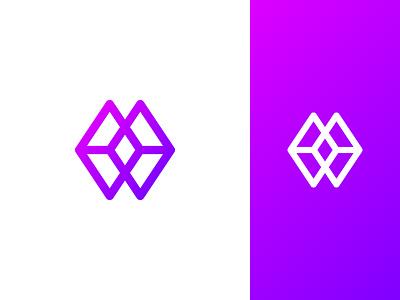 MW mw monogram grid logo golden ratio minimalist logo logomark logo