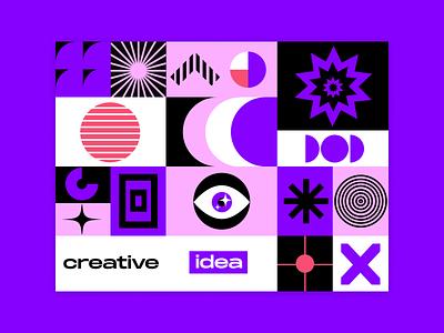 CREATIVE SHAPE design illustration vector star circle supremat supremt suprematism shape