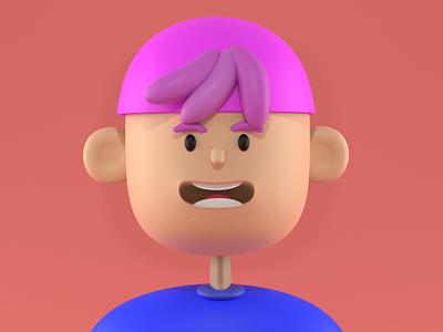 PINKMAN cartoon charater charater design pink pinkman blender3dart 3d cartoon 3d character blender blender3d 3d art 3d