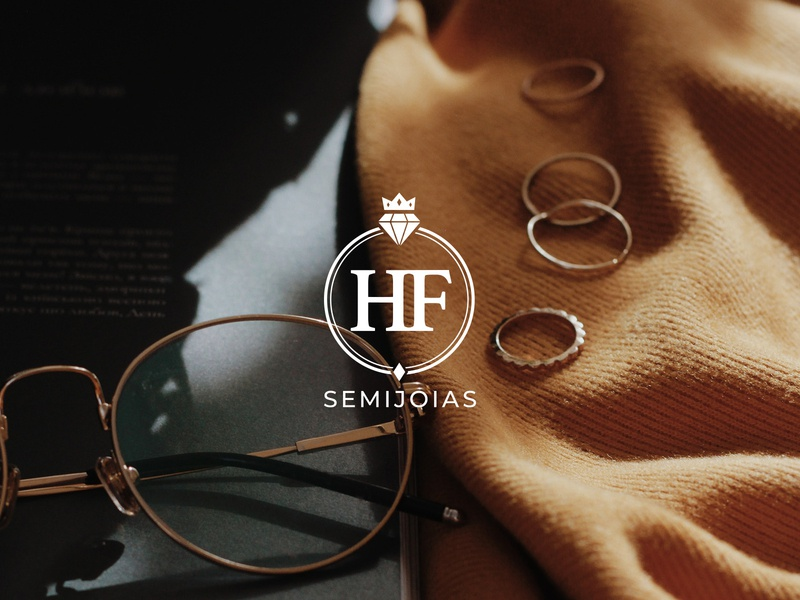 HF Semijoias rebrand luxury jewels jewelry concept application icon logotype logo logo redesign rebranding rebrand redesign
