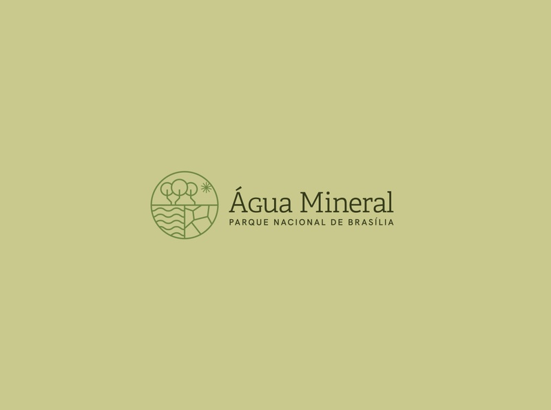 Água Mineral - Parque Nacional de Brasília brasilia park logo design brand identity design logo visual identity brand branding design branding proposal