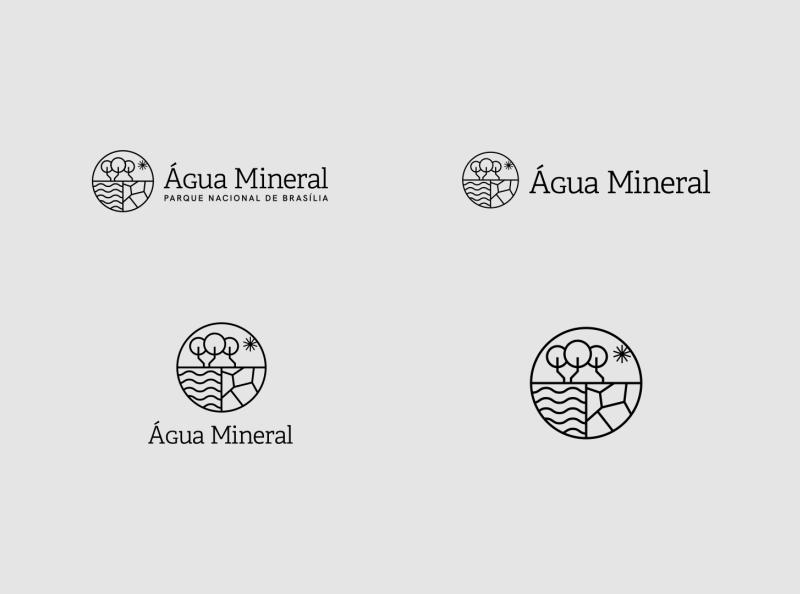 Água Mineral - logo options brand proposal proposal park brand identity brand visual identity design branding logo