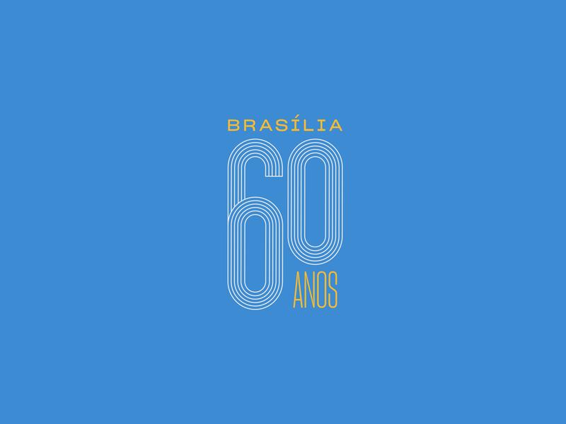 Brasília 60 Anos logo design proposal logotype brand design brand identity brand visual identity logo design branding brand proposal
