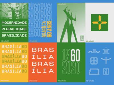 Posters brasília 60 anos brasília graphic design logo design logotype brand design brand identity brand visual identity logo design branding