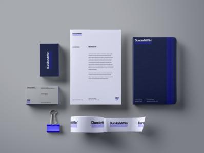 Stationery logotype brand logo visual identity design branding brand design brand identity redesign concept rebrand redesign rebranding the office dunder mifflin