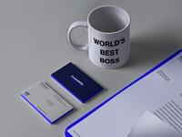 Stationery + Mug brand identity brand visual identity logotype logo design redesign concept redesign rebrand rebranding the office dunder mifflin branding