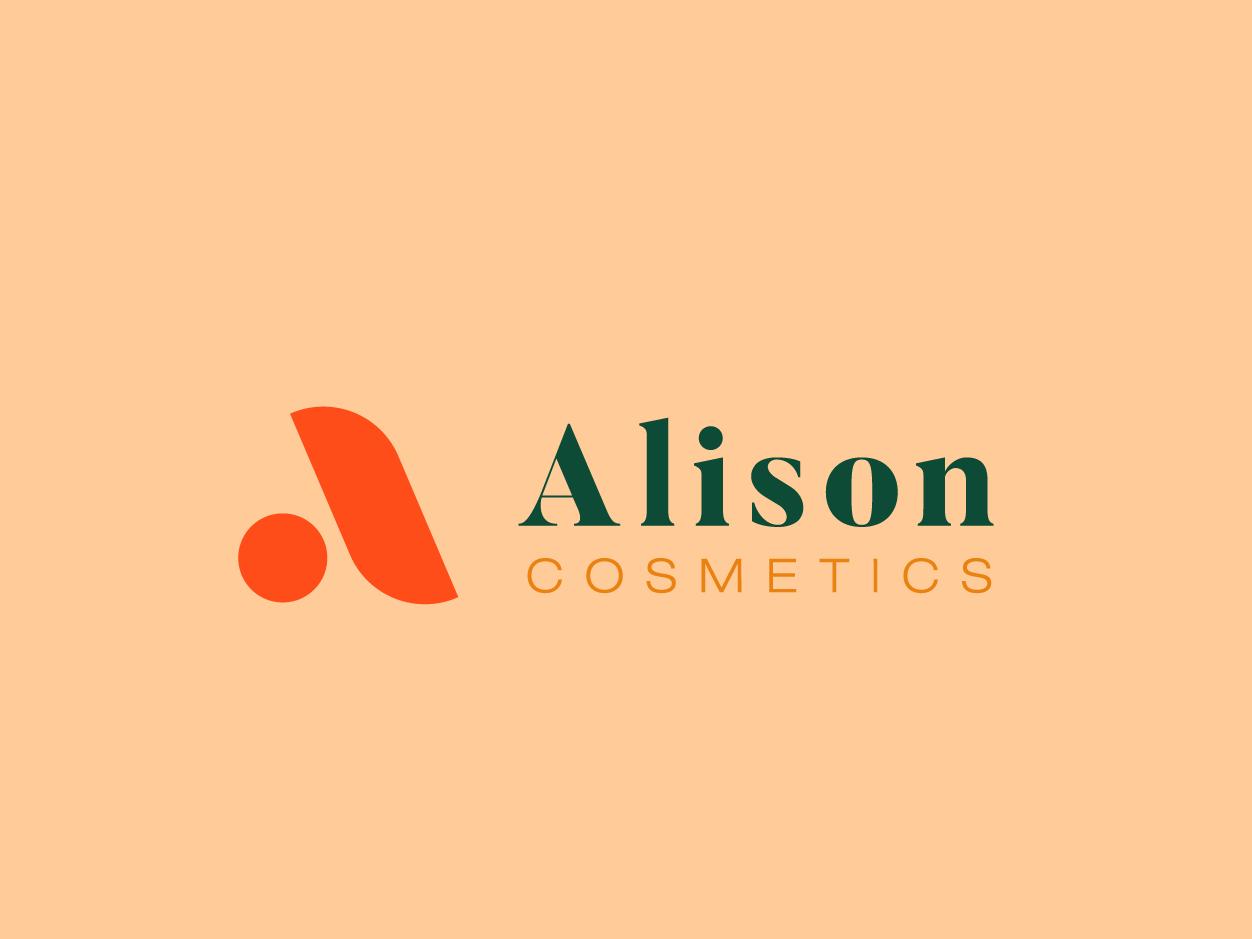 Alison Cosmestics alison cosmetics visual identity design logo branding 30 day logo challenge