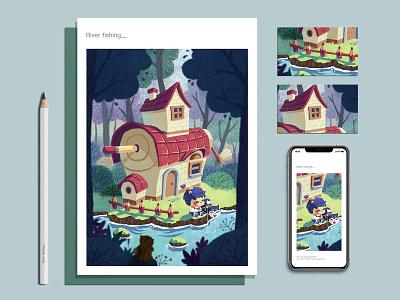 卷笔熊的快乐生活1 illustration 插画