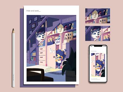 卷笔熊的快乐生活2 illustration 插画