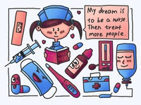 Child's dream---nurse