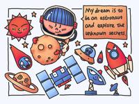 Child's dream---astronaut