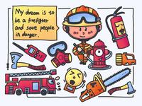 Child's dream---firefighter