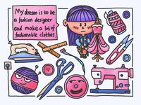 Child's dream---fashion desginer