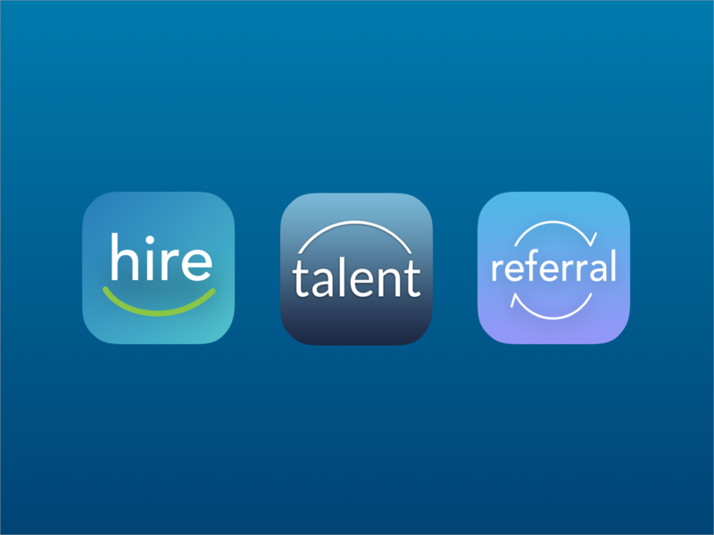 Mobile Hire App Icons talent referral mobile logo hire branding app
