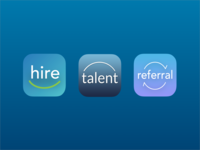 Mobile Hire App Icons talent referral mobile logo hire branding app