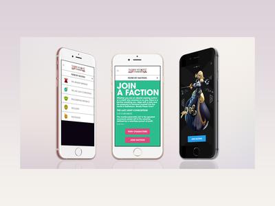 Battleborn Mobile Screens