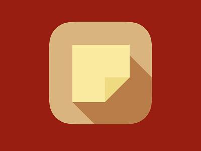 Postit postit flat icon ios7 ios app note long shadow appicon