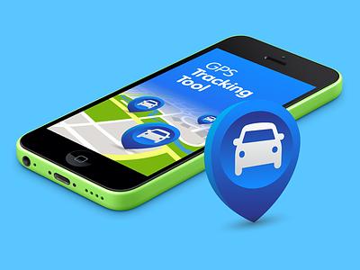 GPS Tracking splash splash ios icon gps poi marker iphone iphone5c 5c