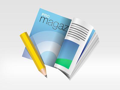 Pro magazine pencil book magazine appicon icon osx