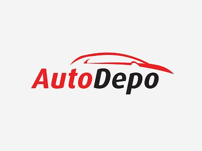 Autodepo dealer car auto logo