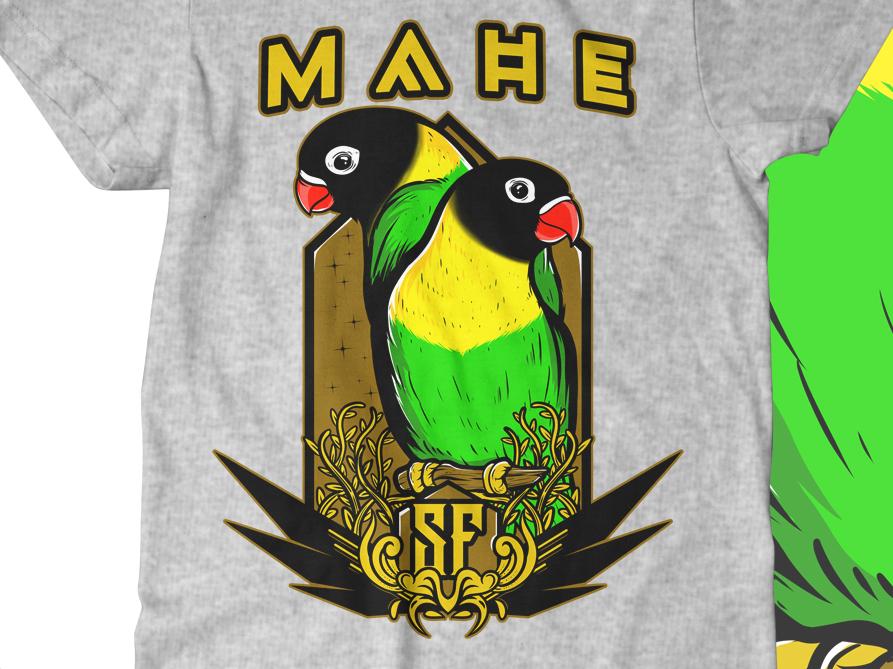 MAHE SF artwork cartoon art illustration merch clothing design