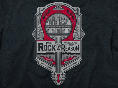 Rock For a Reason Event T-Shirt Design