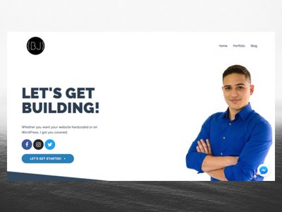 BryanMJimenez.com 1.0 elementor wordpress freelance designer personal website design website