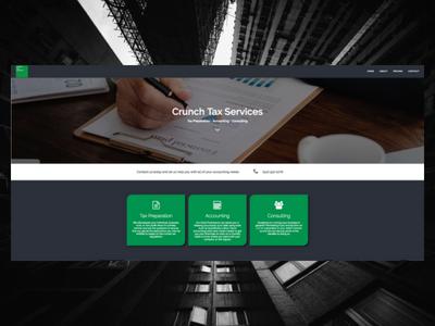 CrunchTax.com elementor wordpress freelance designer personal website design website