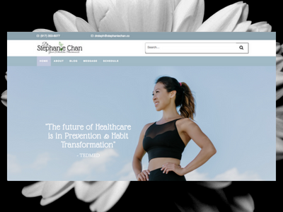 StephanieChan.co elementor wordpress freelance designer personal website design website