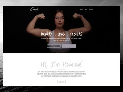 CoachHannahFit.com elementor wordpress freelance designer personal website design website