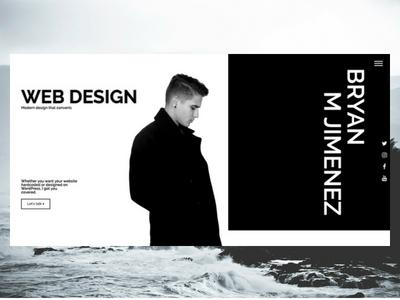 BryanMJimenez.com 2.0 ux design ux elementor wordpress freelance designer personal website design website
