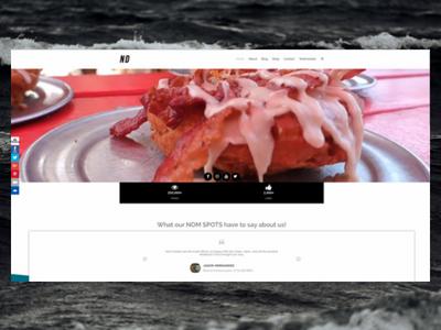 NomDudes.com ux design ux elementor wordpress freelance designer personal website design website