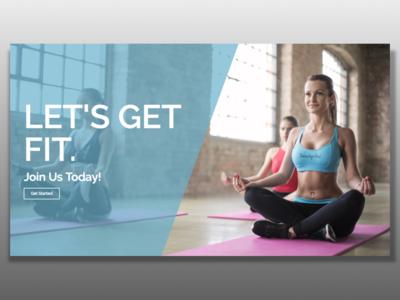 Fitness Header Template ui elementor design web design template website fitness ux