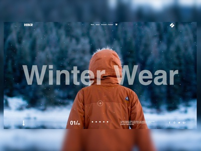 Winter Wear ecommerce apparel winter wp ui template web design ux design ux freelance designer elementor wordpress design website