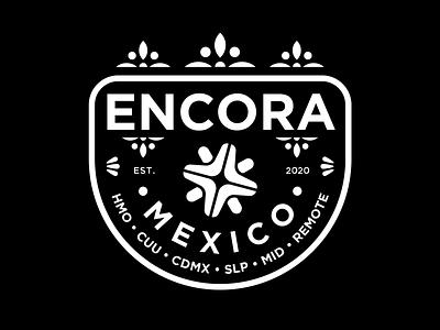 Encora Mexican Badge sticker tee badge encora nearsoft illustration