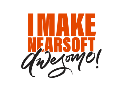 I Make Nearsoft Awesome - unused concept nearsoft illustration tee