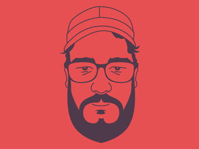 Self Portrait With Glasses vector portrait self illustration