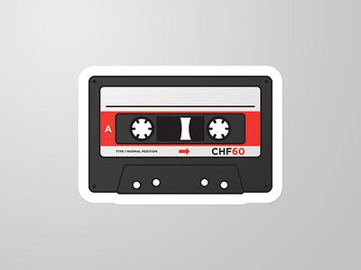 Tape Sticker music cassette sticker