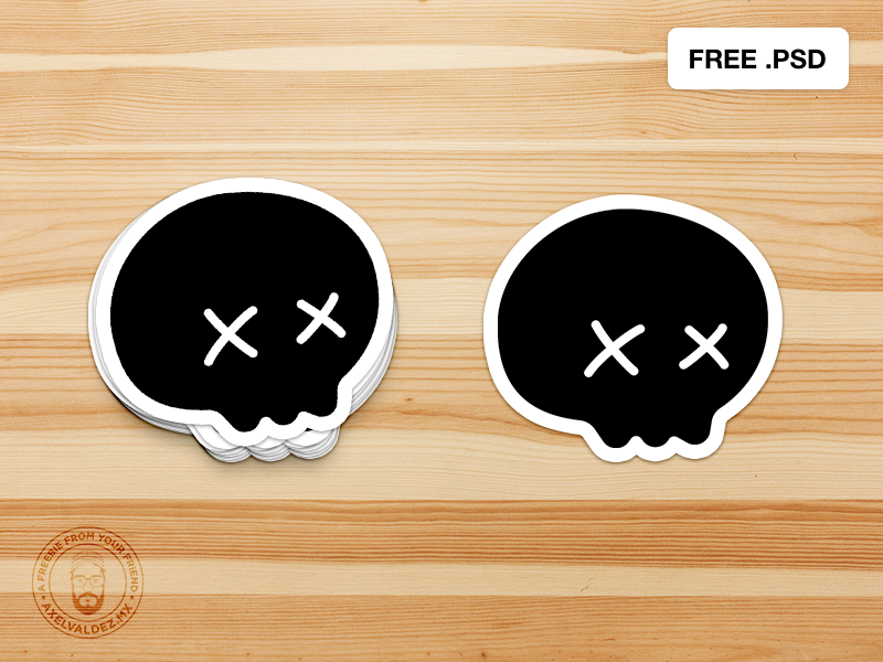 Free Sticker Psd Mockup By Axel Valdez On Dribbble