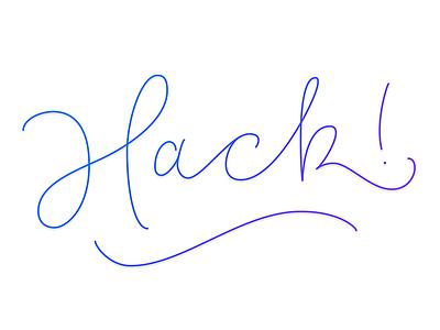 Hack lettering hack