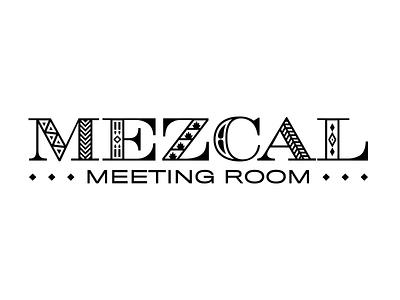 Mezcal Meeting Room signage lettering illustration