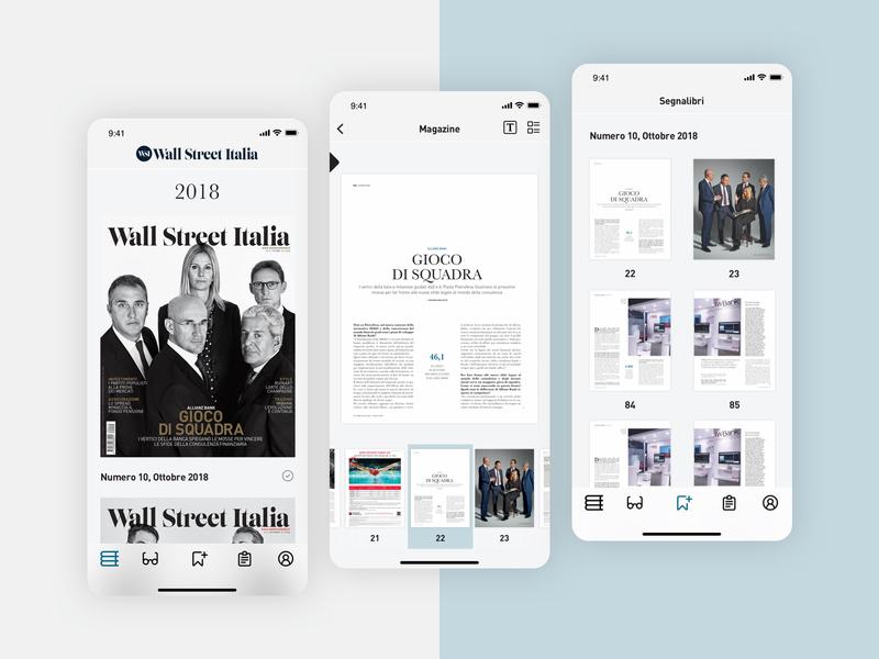 Wall Street Italia - Mobile App web design web ux design ux user interface user experience uiux ui design ui responsive reader news ios experience graphic design studio design app mobile application app