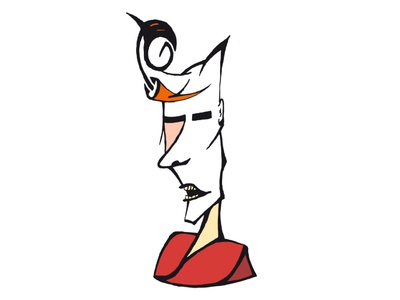 Bowie 2016 abstract face photoshop biro sharpie drawing line illustration ziggy david bowie