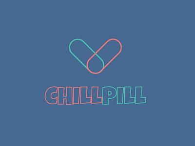 Chillpill Logo pill chill relax anxiety brand logo
