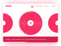 Music Player Design Web Pages